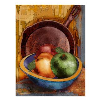 Las manzanas de la abuela postales