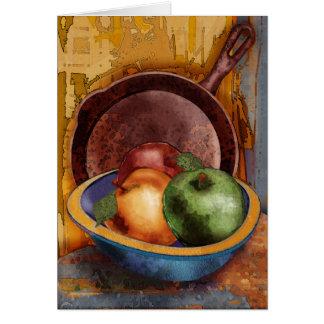 Las manzanas de la abuela tarjeta de felicitación