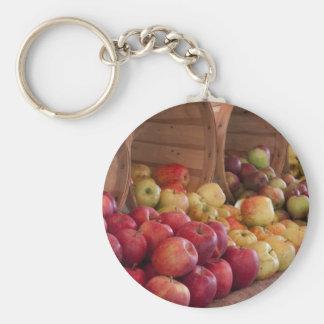 Las manzanas del mercado del granjero llavero personalizado