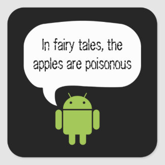Las manzanas son pegatina androide venenoso