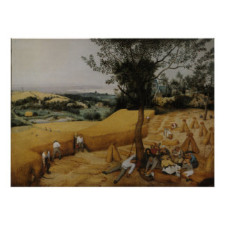 Las máquinas segadores 1565 - Pieter Bruegel la a Poster