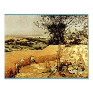 """Las máquinas segadores de Pieter Bruegel (1565) Invitación 4.25"""" X 5.5"""""""