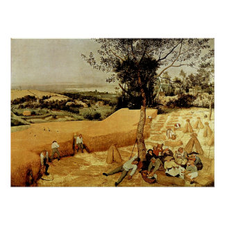 Las máquinas segadores de Pieter Bruegel 1565 Poster
