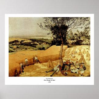 Las máquinas segadores de Pieter Bruegel 1565 Impresiones