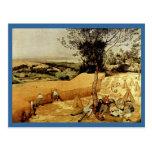 Las máquinas segadores de Pieter Bruegel (1565) Postal