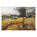 Las máquinas segadores de Pieter Bruegel el 1565 m Manteles Individuales