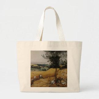 Las máquinas segadores de Pieter Bruegel la ancian Bolsas Lienzo