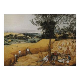 """Las máquinas segadores de Pieter Bruegel la Invitación 5"""" X 7"""""""