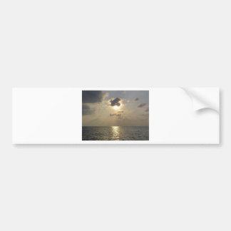 Las maravillas de dios - puesta del sol pegatina para auto