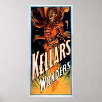 Las maravillas de Kellar vestidas como magia del d Impresiones