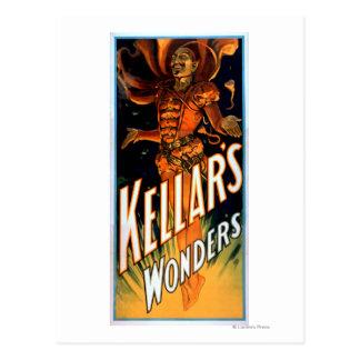 Las maravillas de Kellar vestidas como magia del Tarjetas Postales