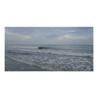 Las mareas vienen adentro tarjeta con foto personalizada