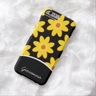 Las margaritas bonitas personalizaron la caja del funda para iPhone 6 barely there