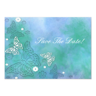 Las mariposas ahorran la invitación de la fecha