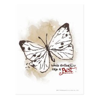 Las mariposas blancas son un parásito postales