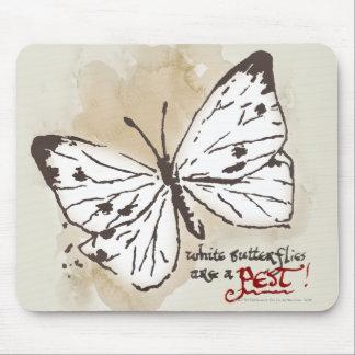 Las mariposas blancas son un parásito alfombrillas de ratones