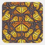 Las mariposas de Effie Pegatina Cuadrada