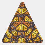 Las mariposas de Effie Pegatina Triangular