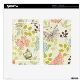 las mariposas el Amazonas del doodle encienden y p Kindle Fire Pegatina Skin