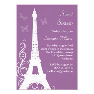 Las mariposas en el cumpleaños de París invitan a  Anuncio