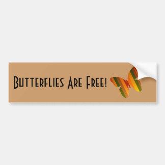 ¡Las mariposas están libres! Pegatina Para Auto