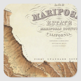 Las Mariposas Estate Mariposas County California Square Sticker