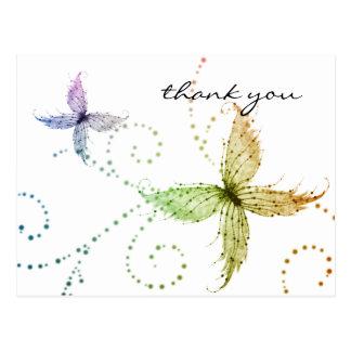 Las mariposas le agradecen postal