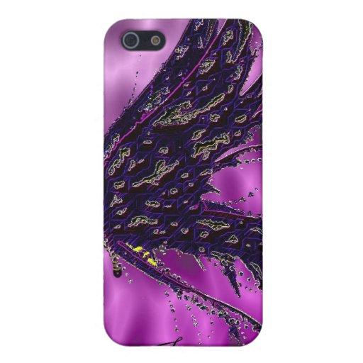 Las mariposas negras personalizaron la caja de Iph iPhone 5 Carcasas