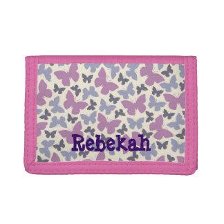 Las mariposas púrpuras personalizaron la cartera d