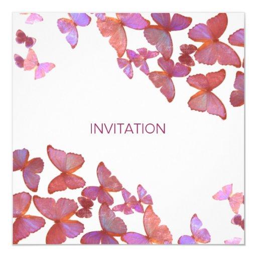 Las mariposas satisfacen se unen a nos invitación