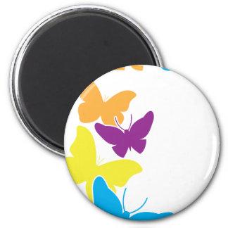 las mariposas son frescas imán redondo 5 cm
