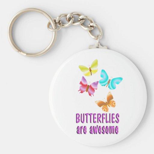 Las mariposas son impresionantes llavero redondo tipo pin