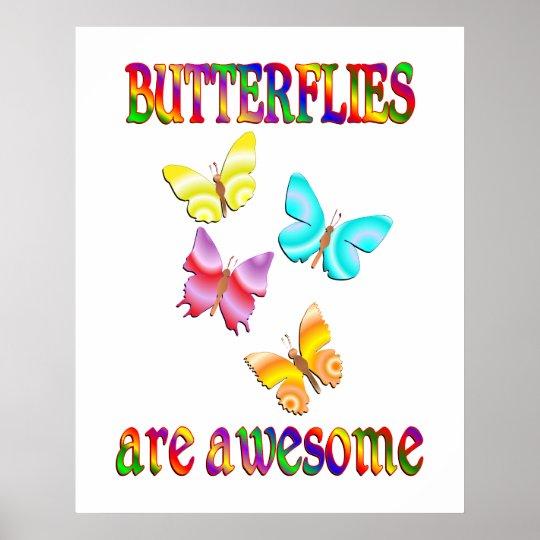 Las mariposas son impresionantes póster