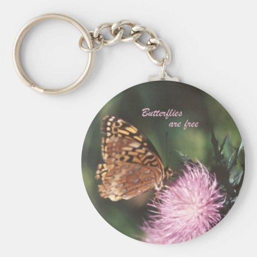 Las mariposas son llavero libre