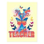 Las mariposas soy profesor tarjeta postal