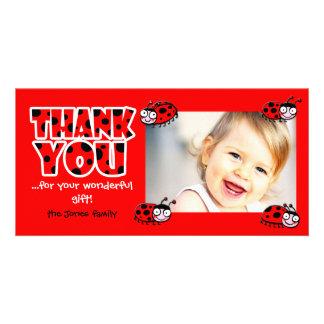 las mariquitas le agradecen por su regalo maravill tarjeta fotográfica personalizada