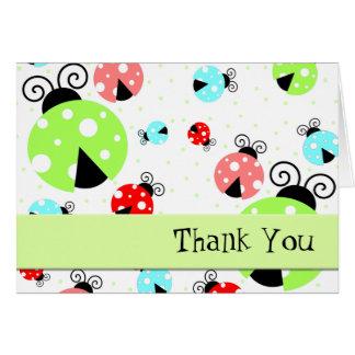 Las mariquitas lindas le agradecen cardar tarjeta pequeña