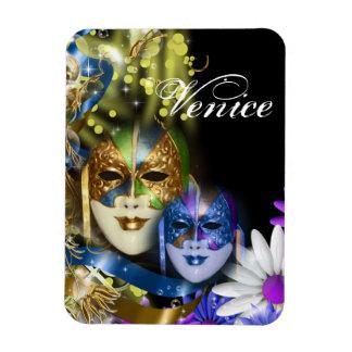Las máscaras venecianas del quinceanera de la imán flexible
