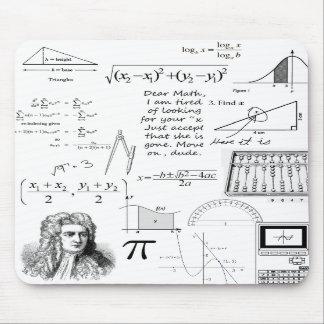 Las matemáticas son mi cojín de ratón de la vida mousepad