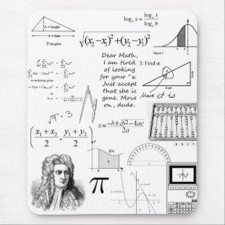 Las matemáticas son mi cojín de ratón de la vida tapetes de raton