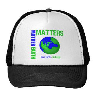 Las materias de la madre tierra ahorran la tierra gorros