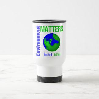 Las materias del ambiente ahorran la tierra van ve tazas