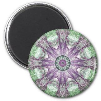 Las medusas eléctricas abstractas refrescan el fra imán redondo 5 cm