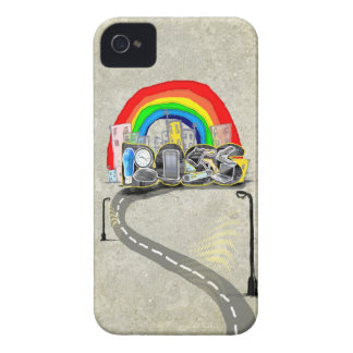 Las mejores cajas de Blackberry del arco iris del iPhone 4 Cobertura