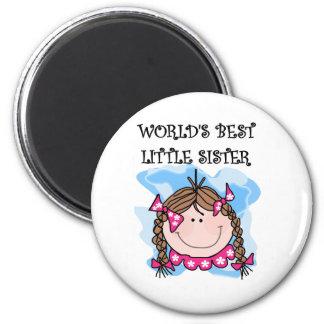 Las mejores camisetas de la pequeña hermana del mu imán redondo 5 cm