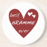 Las mejores camisetas y regalos de Grammie del cor Posavasos Personalizados