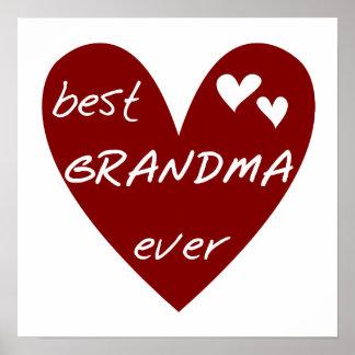 Las mejores camisetas y regalos de la abuela del c impresiones