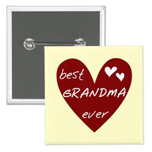 Las mejores camisetas y regalos de la abuela del c pin cuadrada 5 cm