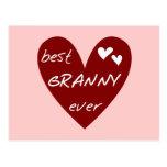 Las mejores camisetas y regalos de la abuelita del tarjeta postal