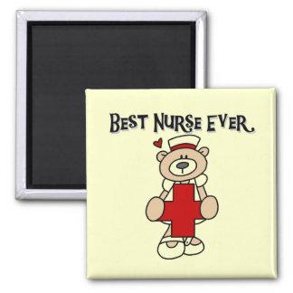 Las mejores camisetas y regalos de la enfermera nu imán cuadrado